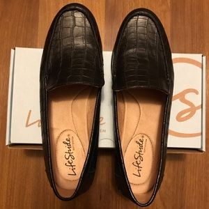 LifeStride Margo black crocodile shoes
